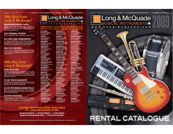Why Buy From Long  McQuade? Why Rent From Long  McQuade?