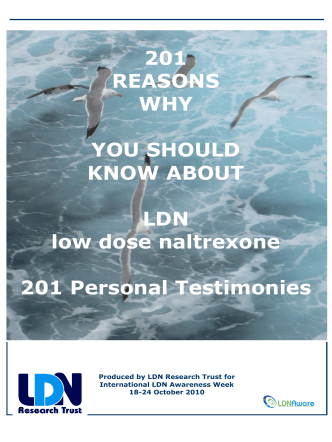 201 REASONS WHY YOU SHOULD KNOW ABOUT LDN low dose
