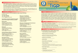 Preface Why TIGP? Ph.D. programs Stipend and Living Contact Us