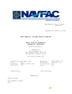 NAVFAC Specifications Cover Sheet