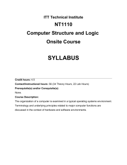 Curriculum Cover Sheet
