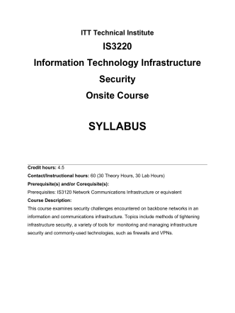 Curriculum Cover Sheet - Ms. Thorpes ITT Cybersecurity Classroom