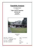 Feasibility Cover Sheet - Triple G Home Inspection Inc.