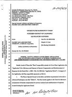 Steefel, Levitt  Weisss Cover Sheet Application for - NRC