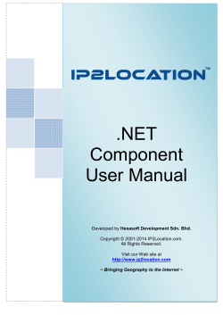 .NET Component User Manual