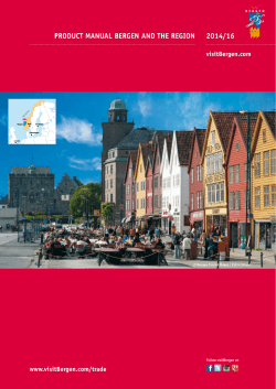 2014/16 PRODUCT MANUAL BERGEN AND THE REGION