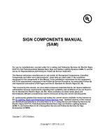 SIGN COMPONENTS MANUAL (SAM) - UL.com