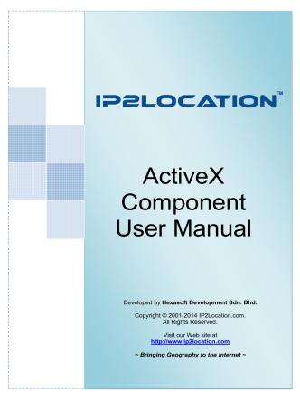 ActiveX Component User Manual