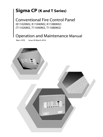 Conventional Fire Control Panel Operation and Maintenance Manual