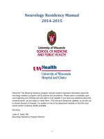 Neurology Residency Manual 2014-2015 - UW Neurology