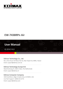 EW-7438RPn Air User Manual - Edimax