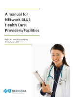 728BA manual for NEtwork BLUE Health Care Providers/Facilities