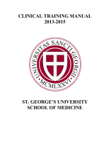CLINICAL TRAINING MANUAL 2013-2015 - St. Georges University
