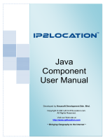 Java Component User Manual
