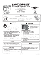 CLASSIC BAY 1200 PELLET STOVE Owners Manual CB1200M