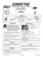 CLASSIC BAY 1200 PELLET STOVE Owners Manual CB1200M
