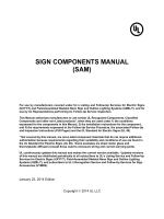 SIGN COMPONENTS MANUAL (SAM) - Industries - UL