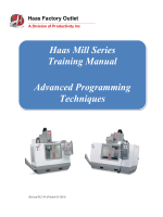 Haas Mill Series Training Manual Advanced - Productivity Inc.