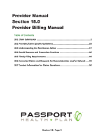 Provider Billing Manual - Passport Health Plan
