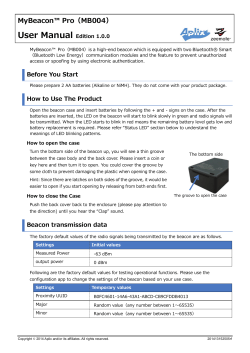 MyBeacon Pro User Manual