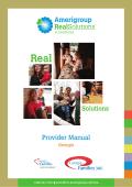 Provider Manual - Providers – Amerigroup