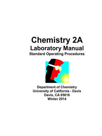 CHEM2A Lab Manual - UCD Department of Chemistry