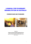 A MANUAL FOR PULMONARY REHABILITATION IN AUSTRALIA