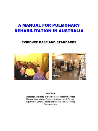 A MANUAL FOR PULMONARY REHABILITATION IN AUSTRALIA