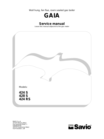 424 S 428 S 424 RS Service manual - Biasi UK