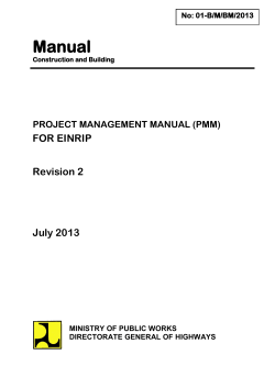 Manual - PMU EINRIP - Bina Marga