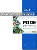 Manual PDDE Interativo 2014 - Ministério da Educação