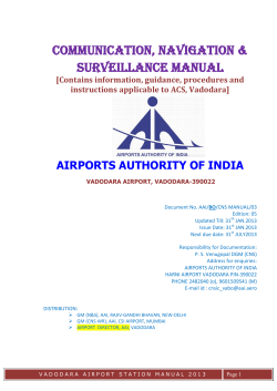 COMMUNICATION, NAVIGATION  SURVEILLANCE MANUAL