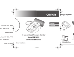 Model BP785N Instruction Manual - Omron Healthcare