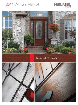 2014 Owners Manual - Therma-Tru Doors