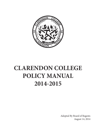 2013-2014 Policy Manual Personnel Handbook Covers and Spines