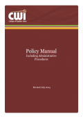 Policy Manual - College of Western Idaho
