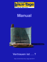 Manual - Chemnitzer Linux-Tage