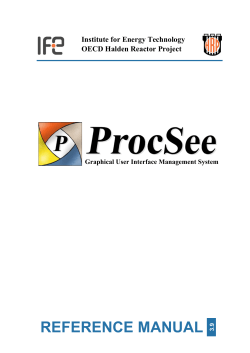 ProcSee Reference Manual