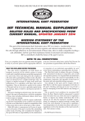 IKF TECHNICAL MANUAL SUPPLEMENT - International Kart