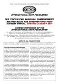 IKF TECHNICAL MANUAL SUPPLEMENT - International Kart