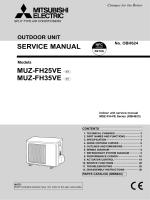 SERVICE MANUAL MUZ-FH25VE - E1 MUZ-FH35VE - E1