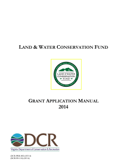 2014 Land and Water Conservation Fund Manual - Virginia