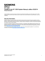 Update to the S7-1200 System Manual, edition 03/2014 - Siemens