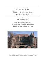 STYLE MANUAL - American Museum of Natural History