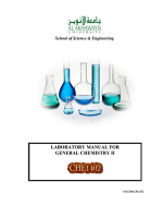 LABORATORY MANUAL FOR GENERAL CHEMISTRY II