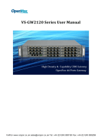 Openvox VS-GW-2120 User Manual - VoIPon Solutions