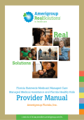 Provider Manual - Providers – Amerigroup