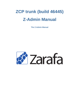 Z-Admin Manual - The Z-Admin Manual - the root of this domain