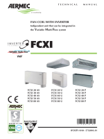Fan coils Aermec FCXI Technical manual