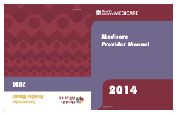 Medicare Provider Manual - Health Alliance